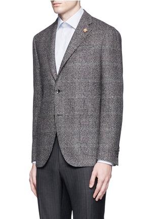 Front View - Click To Enlarge - Lardini - Python mélange lambswool soft blazer