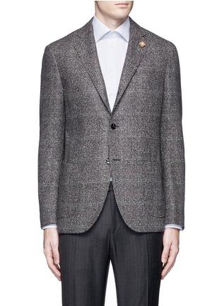 Main View - Click To Enlarge - Lardini - Python mélange lambswool soft blazer