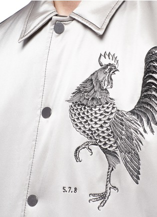 Detail View - Click To Enlarge - Saam1 - 3M reflective rooster embroidered padded coach jacket