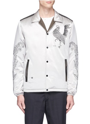 Main View - Click To Enlarge - Saam1 - 3M reflective rooster embroidered padded coach jacket