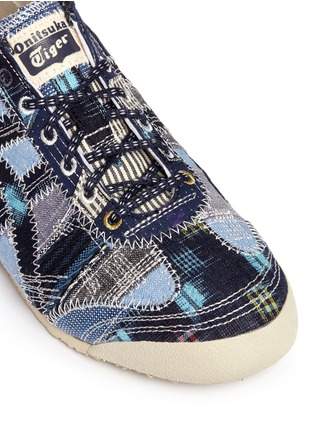 Detail View - Click To Enlarge - Onitsuka Tiger - 'Mexico 66' denim patchwork sneakers