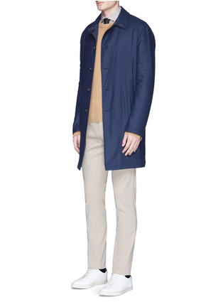 Figure View - Click To Enlarge - Lardini - Reversible cashmere and shell coat