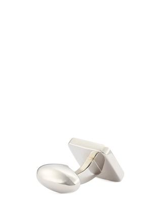 Detail View - Click To Enlarge - BABETTE WASSERMAN - 'Celtic' mother-of-pearl cufflinks