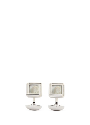 Main View - Click To Enlarge - BABETTE WASSERMAN - 'Celtic' mother-of-pearl cufflinks