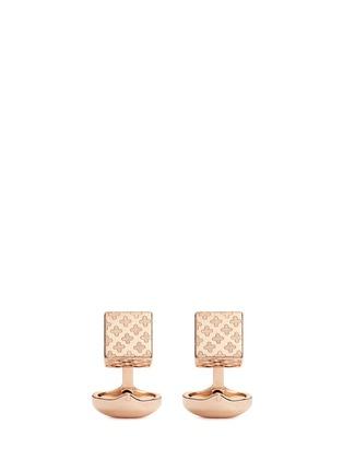 Main View - Click To Enlarge - Babette Wasserman - 'Clover' cube cufflinks