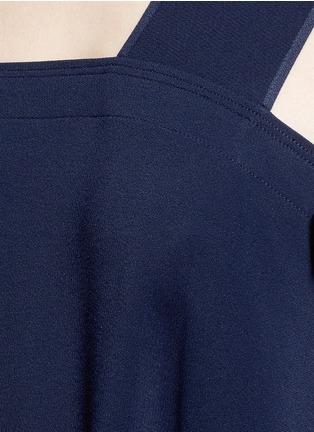 Detail View - Click To Enlarge - Helmut Lang - Side tie crepe midi dress