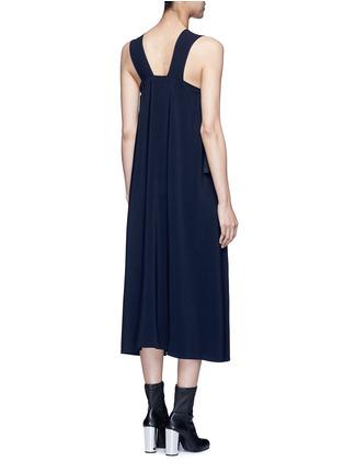 Back View - Click To Enlarge - Helmut Lang - Side tie crepe midi dress