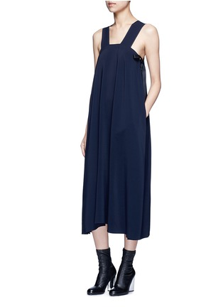 Figure View - Click To Enlarge - Helmut Lang - Side tie crepe midi dress