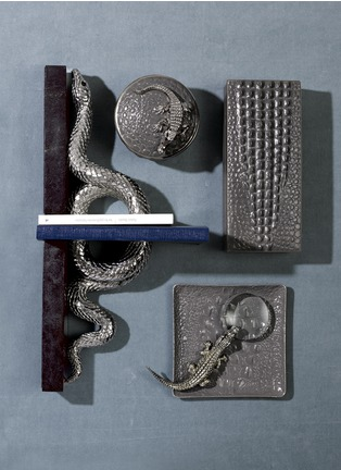 - L'OBJET - Crocodile rectangle box