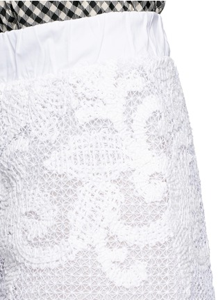 Detail View - Click To Enlarge - Lila.Eugenie - Macramé lace shorts