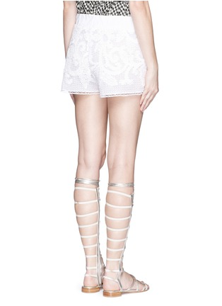 Back View - Click To Enlarge - Lila.Eugenie - Macramé lace shorts