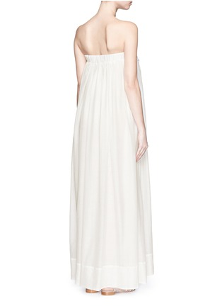 Back View - Click To Enlarge - Lila.Eugenie - Macramé lace cotton-silk maxi dress