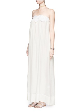 Figure View - Click To Enlarge - Lila.Eugenie - Macramé lace cotton-silk maxi dress