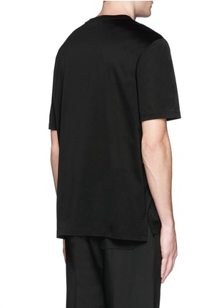 Back View - Click To Enlarge - Lanvin - Stripe panel T-shirt