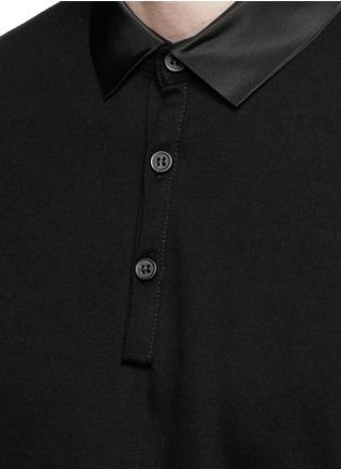 Detail View - Click To Enlarge - Lanvin - Grosgrain collar polo shirt