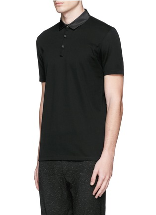 Front View - Click To Enlarge - Lanvin - Grosgrain collar polo shirt