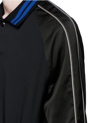 Detail View - Click To Enlarge - Lanvin - Contrast tipping teddy jacket