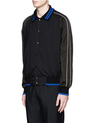 Front View - Click To Enlarge - Lanvin - Contrast tipping teddy jacket