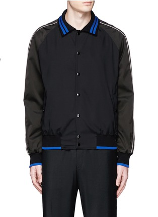 Main View - Click To Enlarge - Lanvin - Contrast tipping teddy jacket