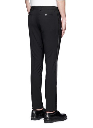 Back View - Click To Enlarge - Lanvin - 'D8' stitch seam wool slim pants