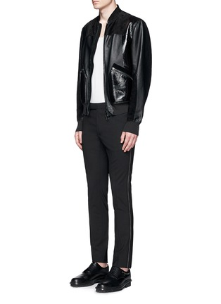 Figure View - Click To Enlarge - Lanvin - 'D8' stitch seam wool slim pants