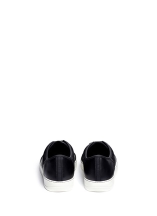 Back View - Click To Enlarge - Lanvin - Panelled mix leather suede sneakers