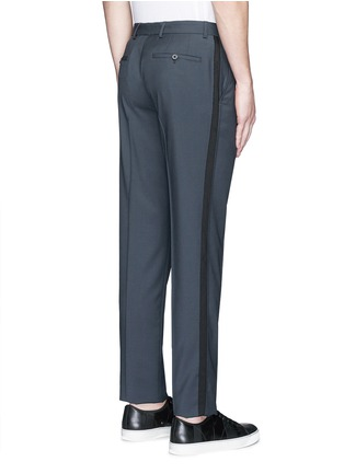 Back View - Click To Enlarge - Lanvin - Raw edge side trim wool pants