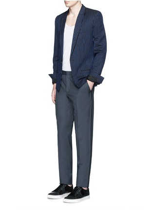 Figure View - Click To Enlarge - Lanvin - Raw edge side trim wool pants