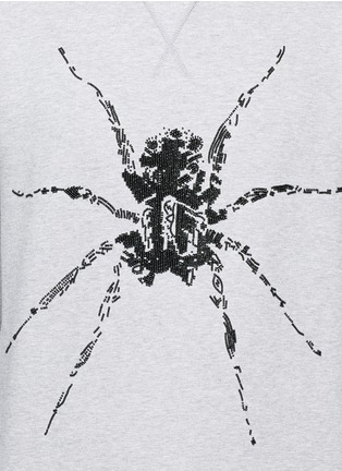 Detail View - Click To Enlarge - Lanvin - Sequin spider embroidery sweatshirt