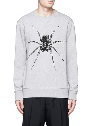 Main View - Click To Enlarge - Lanvin - Sequin spider embroidery sweatshirt