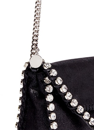 Detail View - Click To Enlarge - Stella McCartney - 'Falabella' mini strass crossbody chain bag