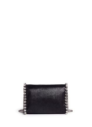 Back View - Click To Enlarge - Stella McCartney - 'Falabella' mini strass crossbody chain bag