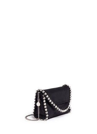 Front View - Click To Enlarge - Stella McCartney - 'Falabella' mini strass crossbody chain bag