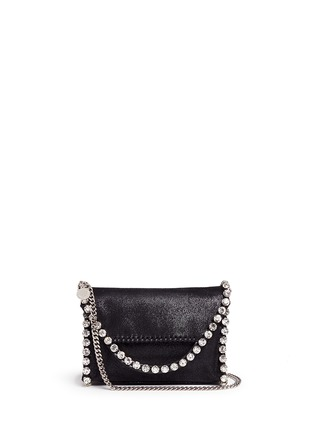 Main View - Click To Enlarge - Stella McCartney - 'Falabella' mini strass crossbody chain bag