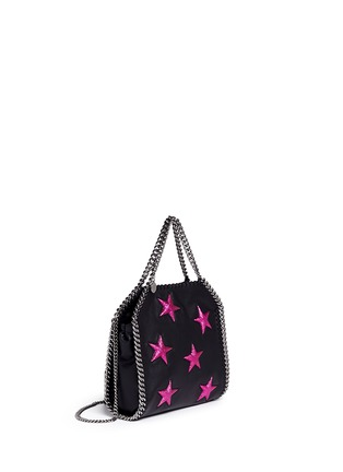 Front View - Click To Enlarge - Stella McCartney - Falabella' mini star appliqué two-way chain tote