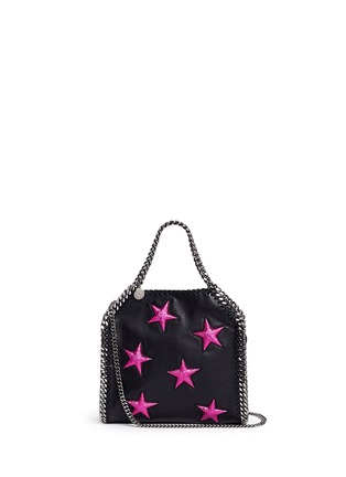 Main View - Click To Enlarge - Stella McCartney - Falabella' mini star appliqué two-way chain tote
