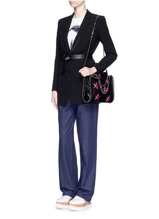 Figure View - Click To Enlarge - Stella McCartney - Falabella' mini star appliqué two-way chain tote