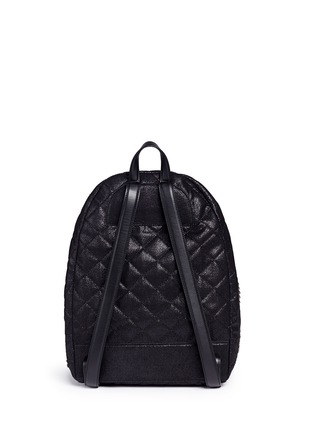 Back View - Click To Enlarge - Stella McCartney - 'Falabella' quilted shaggy deer chain backpack