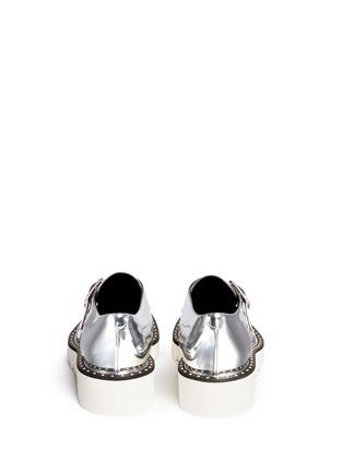 Back View - Click To Enlarge - Stella McCartney - 'Odette' mirror eco leather monk strap shoes