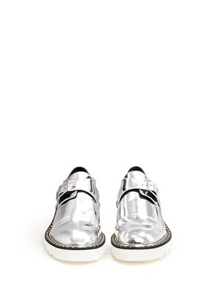 Front View - Click To Enlarge - Stella McCartney - 'Odette' mirror eco leather monk strap shoes
