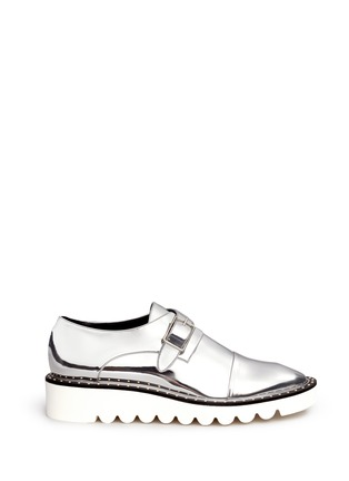 Main View - Click To Enlarge - Stella McCartney - 'Odette' mirror eco leather monk strap shoes
