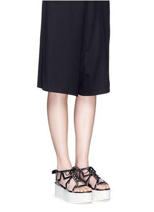 Figure View - Click To Enlarge - Stella McCartney - 'Lucy' marble effect platform metallic sandals