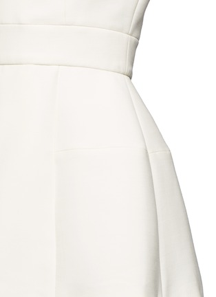 Detail View - Click To Enlarge - Alexander McQueen - Inverted pleat wool-silk scuba top