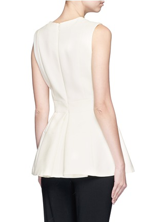 Back View - Click To Enlarge - Alexander McQueen - Inverted pleat wool-silk scuba top