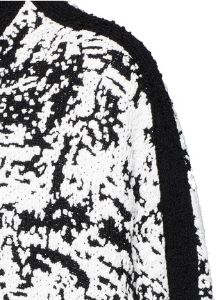 Detail View - Click To Enlarge - Alexander McQueen - Camouflage intarsia knit cape jacket