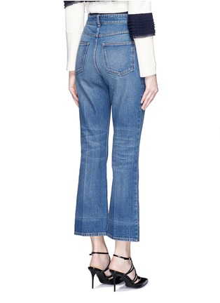 Back View - Click To Enlarge - Alexander McQueen - Vintage wash cropped flare jeans