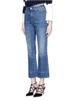 Front View - Click To Enlarge - Alexander McQueen - Vintage wash cropped flare jeans