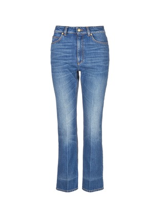 Main View - Click To Enlarge - Alexander McQueen - Vintage wash cropped flare jeans