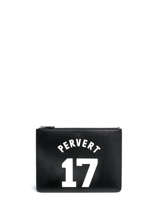 Main View - Click To Enlarge - Givenchy - 'Pervert 17' leather zip pouch