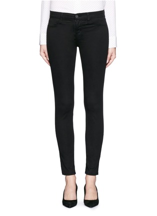 Detail View - Click To Enlarge - J Brand - 'Luxe Sateen' super skinny jeans